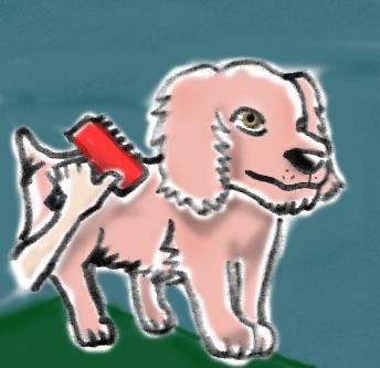 dibujo de cepillar perro