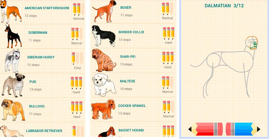 En este momento estás viendo Aplicación para móvil de cómo dibujar Perros : Drawdog