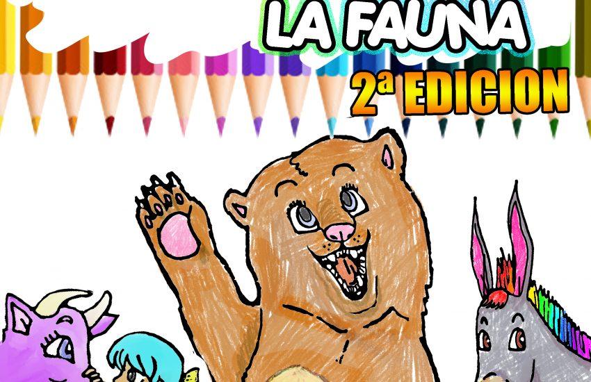 libro de colorear animales español inglés, portada