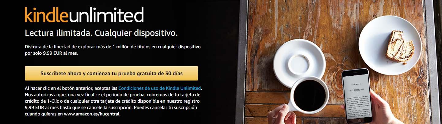 prueba gratis de kindle unlimited de amazon 30 dias banner