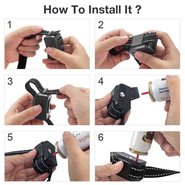 como rellenar o recargar un collar de adiestramiento anti ladrido con botella esprai