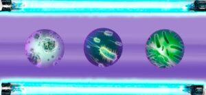 germenes en luz ultravioleta