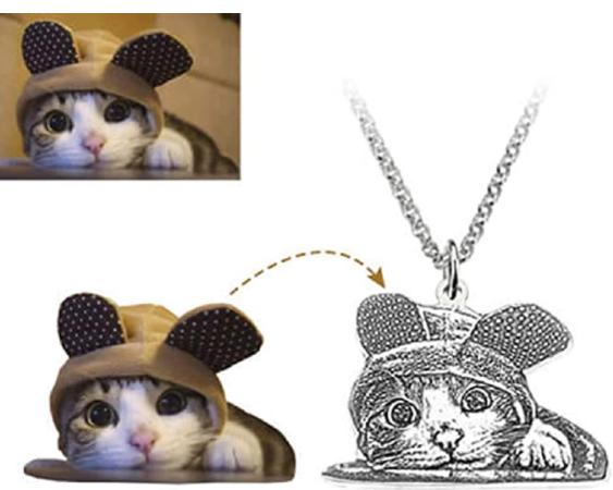 colgante de gato personalizado