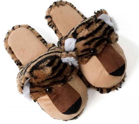 Zapatillas animales de felpa pantuflas tigre